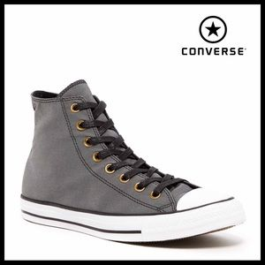 CONVERSE BLACK HIGH TOPS CHUCK TAYLOR SNEAKERS